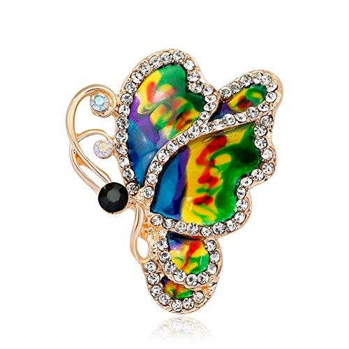 JTXZD broche eenvoudige mode vrouwen mooie emaille druppel kleur erfly broche voor meisjes leuke insecten corsage accessoires
