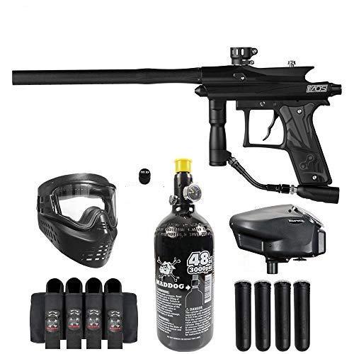 Maddog Azodin KAOS 3 Expert Paintball Gun Marker Starter Package - Black