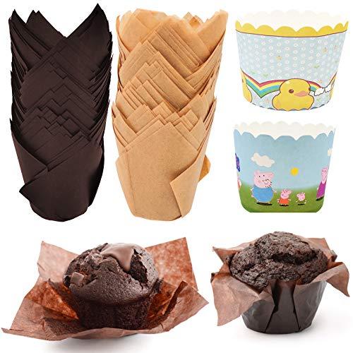 Tazas para Hornear, Moldes para Magdalenas vasos de papel en forma de...