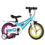 XYZCUP Bicicleta Infantil 12/14/16 Pulgadas Opcional Bicicleta NiñA Rueda SóLida A Prueba De Explosiones, Bicicleta NiñO con Ruedas Auxiliares, para 3-10 AñOs,Rainbow Colors,16 Inches