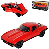 Chevrolet Corvette C3 Coupe Rot Letty´s Fast & Furious 8 The Fast and The Furious 1/24 Jada Modell Auto