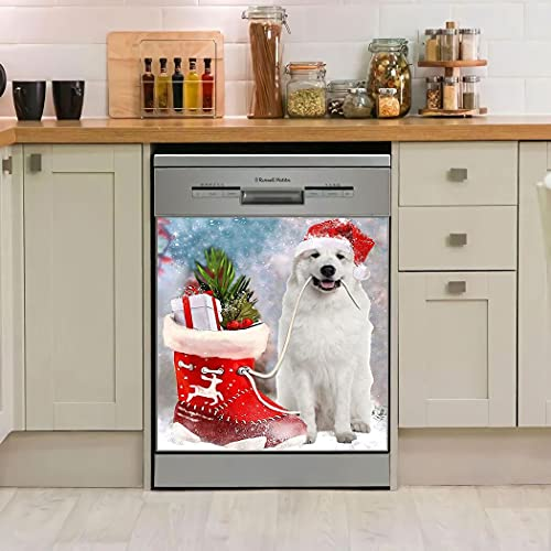 Personalized Great Pyrenees Boot Christmas Winter Season Dishwasher Cover Kitchen Decor Dishwasher For Home Decorative Best Idea For Mothers Fathers Day