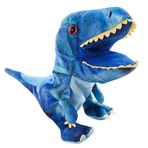 AYQX Big Mouth Tyrannosaurus marioneta de Mano Juguetes de Peluche Guantes para niños Juguetes Juguetes para niños y niñas Regalos de cumpleaños para niños 30 CM Azul