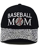H-210-BM06 Sports Mom Baseball Cap - Baseball Mom (Black)