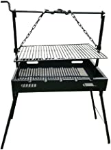 Portable Charcoal Grill, Steel Rods Style
