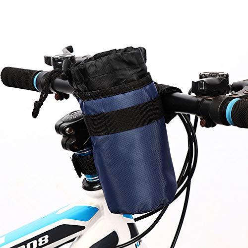 QKTYB Bolsa para botella de agua para bicicleta, soporte universal para botella de bebidas aislada para bicicleta, cochecito, silla de ruedas, coche, scooter, barco, carrito de golf, manillar (azul)