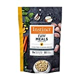 Instinct Freeze Dried Raw Meals Grain Free Cage Free Chicken Recipe Dog Food by Nature's Variety, 9.5 oz. Bag
