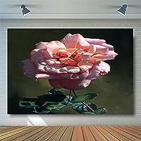 Photoshootの背景花油絵ビニール生地高品質個人写真レトロなスタイル 背景 ZHUSJJS (Color : Pink2, Size : 10x20ft)