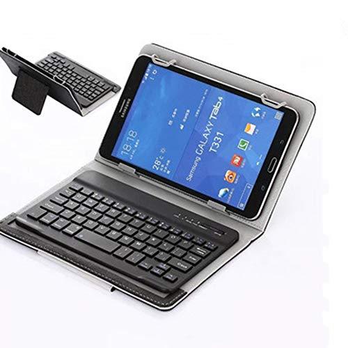 HJSMZ Tragbare Tablet-Tastatur Spiel, Mini wiederaufladbare Tastatur, Leicht und schlank, Einfaches Aussehen, Komfortable Berührung, Kompatibel mit Windows, iOS und Android,Schwarz