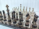 Desconocido Generic El Exquisito Juego de ajedrez de latón Tallado  Piezas de ajedrez combinadas de Metal sólido y Tablero de latón de Metal Juego de ajedrez de Lujo