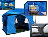 The Original-Authentic Standing Room 6-person Cabin Tent 8.5'  OF HEAD ROOM 2 Big Screen Doors (PREMIUM has 4) Fast Easy SetUp,Fits Most 10x10 STRAIGHT Leg Canopy,FULL FLOOR, CANOPY FRAME NOT INCLUDED