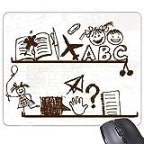 beatChong Goma Mousepad del Juego Alfombrilla de ratón Regalo avión de Papel Infantil niños Dibujado a Mano ilustración Linda del Estante de la Universidad del rectángulo Antideslizante