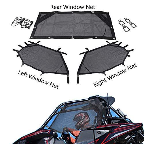 UTV Window Net Front Rear Right & Left Window Shade Shield Net Cover Roll Cage Mesh Guard Door Scratch Prevention For Polaris RZR 570 800 800s 900 turbo s 1000 RZR XP Polaris Ace 2015-2019 2-Door