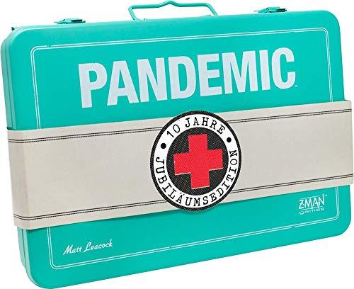 ZMan ZMND0009 Pandemic 10 Jahre Jubiläumsedition, Familienspiel, Strategiespiel, Deutsch