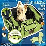 Transportín plegable de tela para gatos y perros pequeños, ideal para...