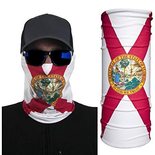 International Tie Florida Flag Bandana – Face Mask: Soft & Breathable Material Multi-Functional Neck Gaiter, Balaclava, Sunmask or Headband