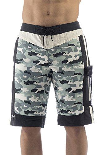 UAKKO Badehose für Herren/Junge wasserdichte Tasche IPX8 Military Größe L