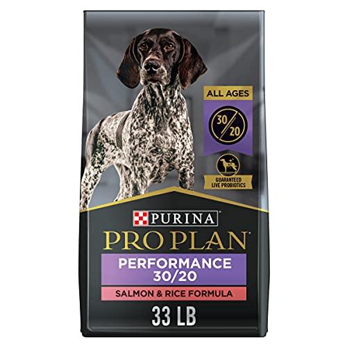 Purina Pro Plan High Protein, High Energy Dry Dog Food, 30/20 Salmon & Rice Formula - 33 lb. Bag