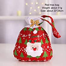 Christmas candy bag as gift bag tote bag candy bag with 3 colors (red)