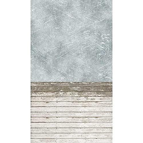 Fondo de fotografía de Suelo de Madera Degradado Accesorios de Estudio fotográfico Fondo de fotografía de Vinilo Cortina de fotografía A10 10x10ft / 3x3m