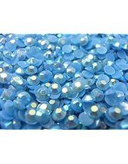 【卸 良品大量 アクリルラインストーン 2mm~10mm ミルキー青】スワロフスキー (2mm (約700粒))