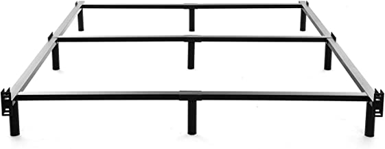 NOAH MEGATRON King Size Metal Bed Frame-7 Inch Heavy Duty Bedframe, 9-Leg Support for Box Spring & Mattress Foundation, 3000LBS, Black