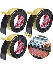 Afdichtingstape Voor Deuren En Ramen Deurafdichting Zelfklevend Afdichtingstape Zelfklevende Tochtstrip Voor Ramen Schuimband 5m x 15mm(B) x 5mm(D) Voor Deuren Ramen Tegen Warmte Koude Tocht En Lawaai
