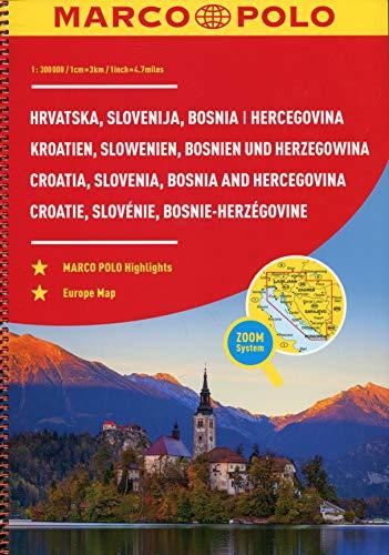 MARCO POLO ReiseAtlas Kroatien, Slowenien, Bosnien und Herzegowina 1:300 000: Europa 1:4 500 000 (MARCO POLO Reiseatlanten)