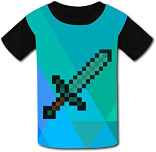 QIANBAIHUI Kids Youth Diamond Sword 3D Printed Crew Neck T-Shirt Tees