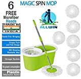 ALLWIN Mop Floor Cleaner with Bucket Set Offer with Big Wheels for Best