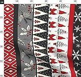 Zwerge, Rot, Schwarz, Türkis, Weiß, Elfenbein Stoffe -