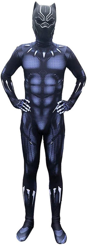 Morph33 Schwarze Panther-Kleidung Captain America 3 Rollenspiel-Kostüm Erwachsene elastische Strumpfhosen Bühnenkostüme Movie Prop (Farbe   Schwarz, größe   L) B07PRXMS4D Glücklicher Startpunkt    Ab dem neuesten Modell