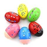 HAZOULEN Set of 6 Wooden Percussion Musical Egg Maracas Egg Shakers...