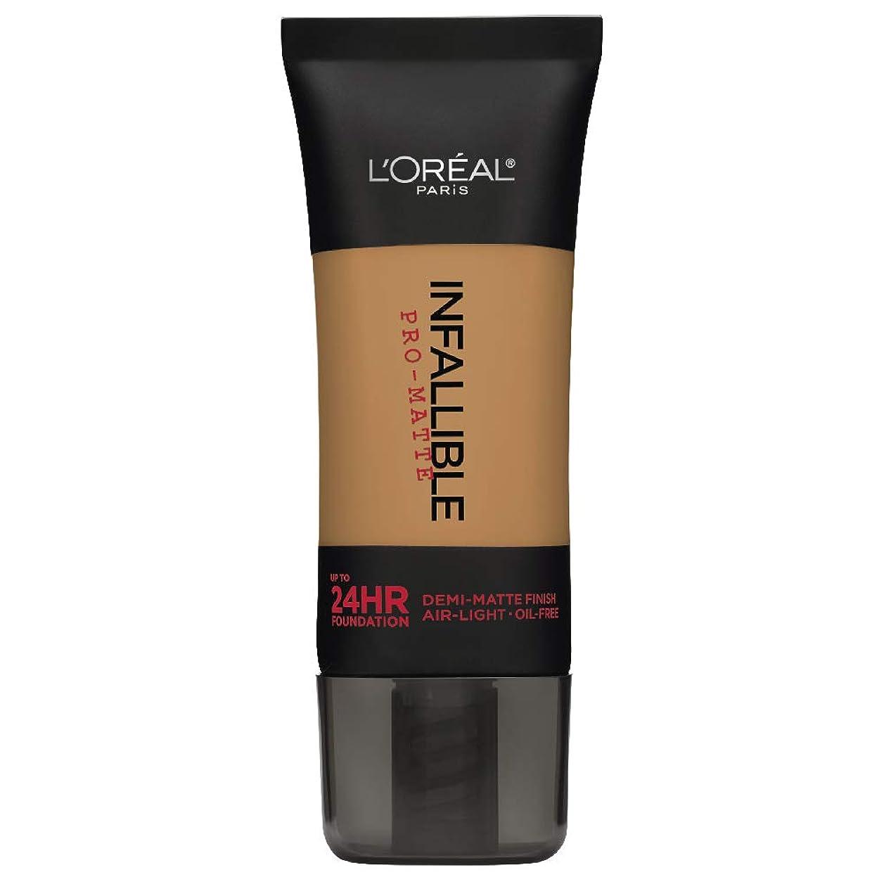 どこでもファイター軽減L'Oreal Paris Infallible Pro-Matte Foundation Makeup, 108 Caramel Beige, 1 fl. oz[並行輸入品]
