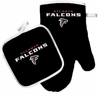 Oven Mitt and Pot Holder Set - Barbeque BBQ Kitchen Backyard Outdoors - NFL - Atlanta Falcons