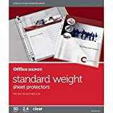 Office Depot Standard Weight Sheet Protectors, 8 1/2in. x 11in, Clear, Pack of 50, 491676