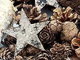 Unbekannt Zapfen Natur Sterne Weihnachten Deko Braun Holz Winter Tischdeko Basteln - 3
