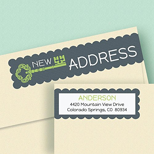 New Pad Moving Address Labels - Set of 64 Labels, Wrap-Around, Self-Adhesive, Flat-Sheet, New Address Labels, Just Moved, Moving Announcement Labels