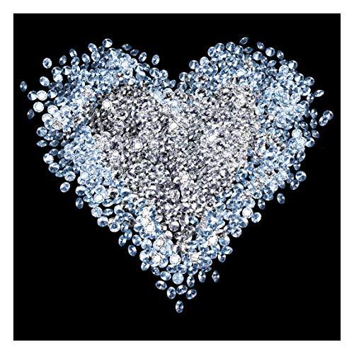 Bilderwelten Diamant Herz Vliestapete, Größe: 288cm x 288cm