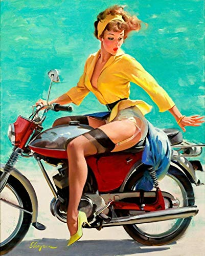 ggdyy Rompecabezas, Vintage Pin Up Girls Retro Burlesque Adultos Rompecabezas de Madera, Decoración Moderna del hogar para Sala de estar-1000 Piezas 52x38CM