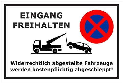 Melis Folienwerkstatt sticker schild - ingang vrijhouden - S00020-J-A 60x40cm – Aluverbundplatte – ohne Bohrlöcher
