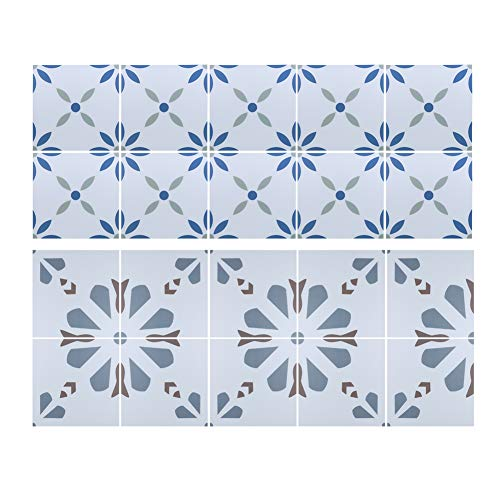 Oumefar Vinilo adhesivo para suelo de 20 x 20 cm, antideslizante, impermeable, para decoración del hogar