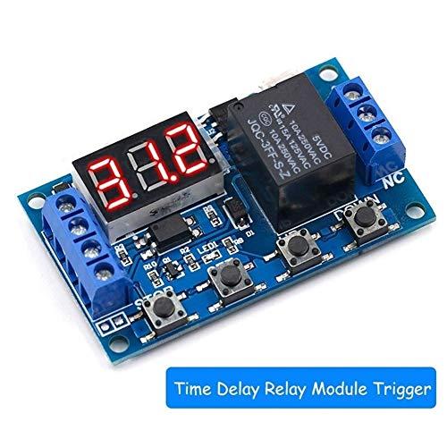 6-30V Relaismodul Schalter Trigger-Zeitverzögerungsschaltung Timer Zyklus Einstellbare 828 Promotion (Color : Green)