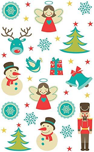AVERY Zweckform 52771 Weihnachtssticker Schneemänner 36 Aufkleber