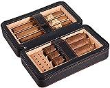 WANGXIAOYUE Caja de cigarros Humidor de Cuero de Viaje de cigarro portátil Humedad de Escritorio de cigarros con Caja de cigarro de Bandeja Caja de Tabaco