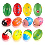 12Pcs Wooden Egg Shakers Maracas Percussion Musical Egg Kids...