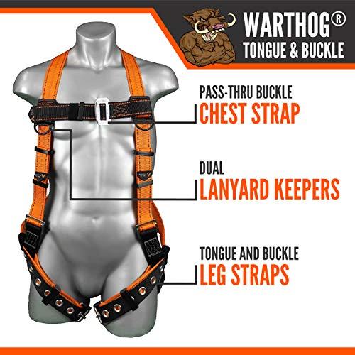 Malta Dynamics Warthog Full Body Harness with Tongue Buckle Legs (X-Large-XX-Large), OSHA/ANSI/CSA Compliant