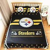 LEMOISTARS Pittsburgh Steelers 3pcs Queen Size Bedding Duvet Cover Set,1 Duvet Cover and 2 Pillowcases