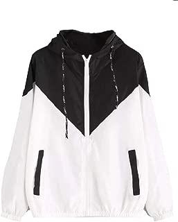 MogogoWomen Outdoor Hooded Sunscreen Zipper Pocket Trench Coat Jacket