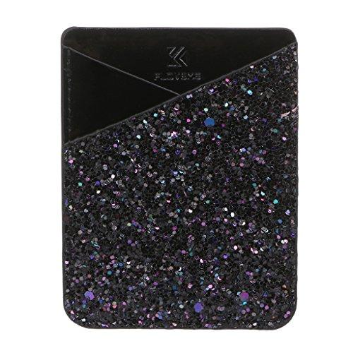 Guoyy Mode Handy ID Kartenhalter Brieftasche Kredit Tasche Abnehmbare Aufkleber auf Telefon Samsung Galaxy Android Smartphones (03)